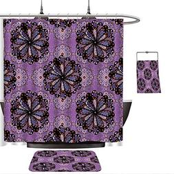 QINYAN-Home Pattern Printing Suit Purple Mandala Vintage Eth