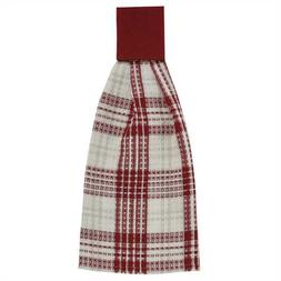 Peppermint Plaid Hand Towel Country Farmhouse Kitchen Dining