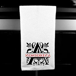Personalized Name - Initial Microfiber Kitchen Towel, Choose