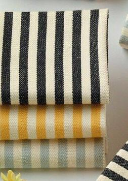 Petite Stripe Towels DII, Kitchen Farmhouse, Set/3, Black, G