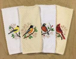 Pick Color Embroidered Birds Cardinal Robin Oriole Goldfinch