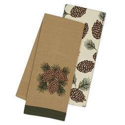 Pine Cones Dish Towels Set of 2 Kitchen Tea Pinecone DII