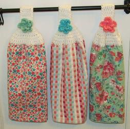 Pioneer Woman *Gorgeous Garden* Crochet Top Towels Bag Holde