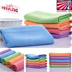 Plaid Cotton Dishcloths Cleaning Tea Towels Glass Washing Th