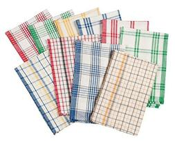 WalterDrake Plaid Kitchen Towels, Set of 10