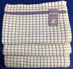 Sam Lamont Poli-Dri Kitchen Towels White/Lavender 100% Cotto