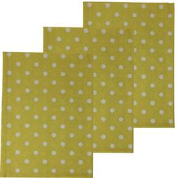 Dunroven House Polka Dot 100% Cotton Kitchen Towels, Set of