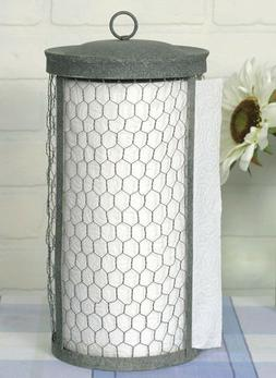 Primitive Chicken Wire Paper Towel Holder Rustic Home Kitche