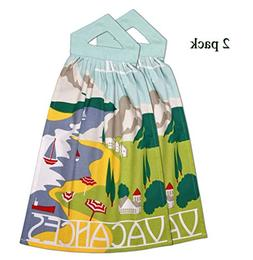 printed hanging kitchen hand towels