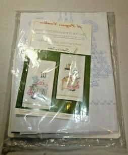 Progress Pair Stamped Kitchen Towels Vintage Cross Stitch Ki