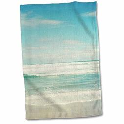 3dRose Gentle Ocean Waves Beach Theme Art Towel, 15 x 22, Mu
