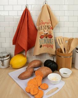 CLEARANCE!  2 Kitchen Dish Towels Pumpkin Spice My Favorite