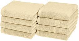 AmazonBasics Quick-Dry Hand Towels - 100% Cotton, 8-Pack, Li