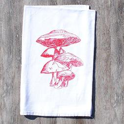 Dish Kitchen Towel - Hand Screen Printed Flour Sack Cotton -