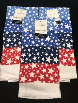 red white blue kitchen towels 4th of