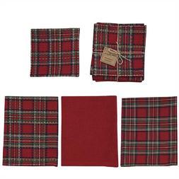 Park Designs REGAL TARTAN Christmas 3 Kitchen Dish Towels, 1