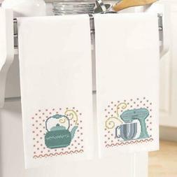 Herrschners® Retro Kitchen Towel Pair Stamped Cross-Stitch