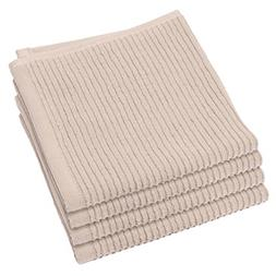 Now Designs Ripple Kitchen Dishcloth, Set of 4, Oyster