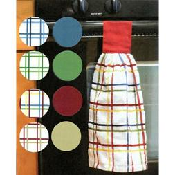 Ritz Kitchen 100% Cotton Checked & Solid Hanging Tie Towels