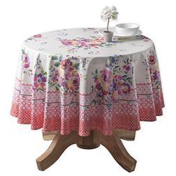 rose garden cotton tablecloth round