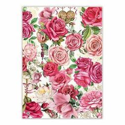 ROYAL ROSE Floral Cotton Kitchen Towel by  Michel Design Wor