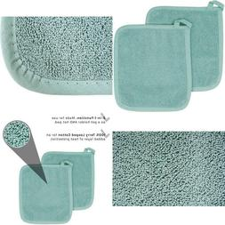 Ritz Royale Collection Terry Pot Holder/Hot Pad Set, Dew, 2-