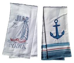 Kay Dee Sail Away Embroidered Kitchen Towel Set - Anchor Han