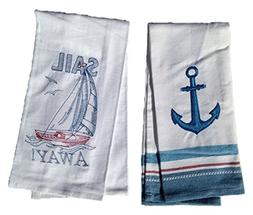 Kay Dee Sail Away Embroidered Kitchen Towel Set - Anchor Han