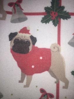Santa Pug Dog  LADINNE KITCHEN TOWELS CHRISTMAS TURKISH COTT