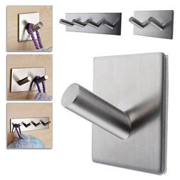 Self Adhesive Hook Key Rack Kitchen Towel Hanger Wall Mount