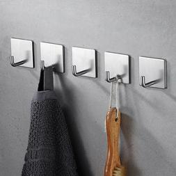 Self-Adhesive Towel Hooks Bathroom Shower Kitchen Home Wall