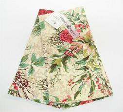 Set/2 April Cornell Cotton Kitchen Tea Towels Merry Holiday
