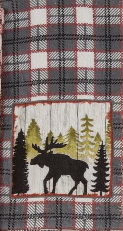 New! Set/2 Forest Western Moose Kitchen Towels Hand Tea Dish
