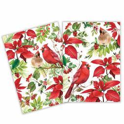Set / 2 Michel Design Works Cotton Kitchen Towels Christmas