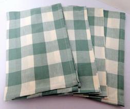 Set/2 Park Designs WICKLOW Check Kitchen Towels Sea Glass Gr