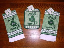 Set - 3 St Patrick Bless This Home 2 kitchen towels 1 pothol