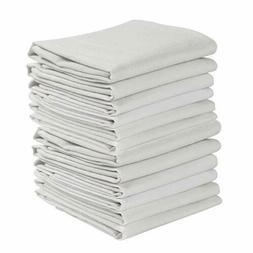KAF Home Set of 12 Flour Sack White Kitchen Towels, 100Perce