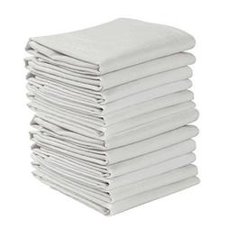 KAF Home Set of 12 Flour Sack White Kitchen Towels 100Percen