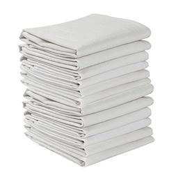 KAF Home Set of 12 White Wrinkled Flour Sack Kitchen/Chef To