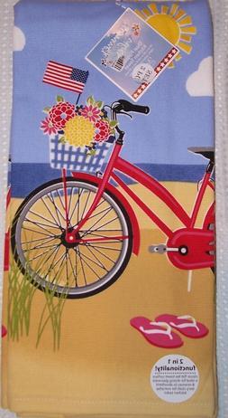 "SET OF 2 Kay Dee Designs ""Beach Bike"" Nautical Beach Ocean K"