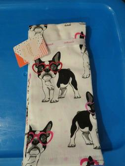 Set of 2 Boston Terrier French Bulldog Valentine Hearts Kitc