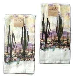 Set of 2 DESERT SUNSET Terry Kitchen Towels by Kay Dee Desig