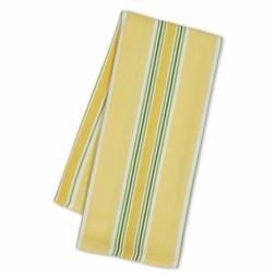 Set of 2 Design Imports LIMONCELLO STRIPE Cotton Dish Towels
