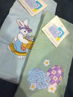 Set of 2 Easter Decor Hand Towels for Kitchen, Dining, or Ba