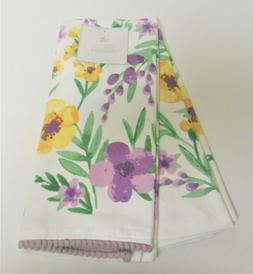 Deborah Connolly Set of 2 Floral Kitchen Tea Dish Towels Spr