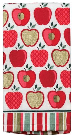 set of 2 happy apple terry cloth