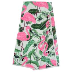 Set of 2 Home Collection Beach Bash Flamingos Kitchen Towels
