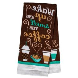 Set of 2 Home Collection Coffee-Themed Kitchen Towels, 15x25