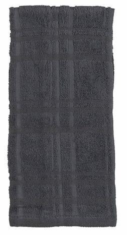 Set of 2 Kay Dee Designs Kitchen Basics CHARCOAL GRAY Cotton