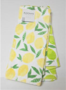 Envogue Set of 2 Kitchen Tea Towels Lemons and Limes